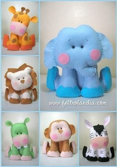 Pets sitting with Bichinhos sentados com moldes Pets sitting with . Pets sitting with Bichinhos sentados com moldes Pets sitting with molds - Baby Crafts, Cute Crafts, Felt Crafts, Crafts For Kids, Craft Projects, Sewing Projects, Felt Patterns, Sewing Toys, Felt Fabric