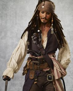 Johnny Depp as Jack Sparrow x  There is something really sexy about him as a Pirate!