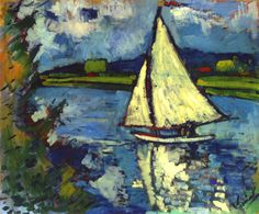 Vlaminck, Maurice de (French, 1876-1958) - White Sailboat at Chatou - 1906 (by *Huismus)