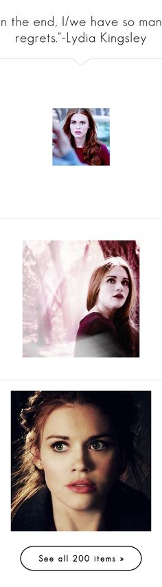 """""""""""In the end, I/we have so many regrets.""""-Lydia Kingsley"""" by demiwitch-of-mischief ❤ liked on Polyvore featuring teen wolf, holland roden, people, hair, photos, holland, lydia, dresses, floral and short dress"""