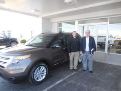 Anthony Boudreau and the rest of us here at Court Street Ford would like to congratulate Thomas Small of Kankakee on the purchase of his 2015 Ford Explorer.  Thank you for your business Thomas!