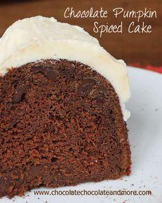 Chocolate, Chocolate and more...: Chocolate Pumpkin Spice Cake