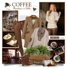 """""""Coffee Shop"""" by thewondersoffashion ❤ liked on Polyvore"""