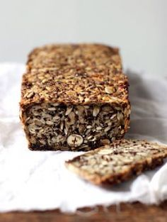 My New Roots - Life Changing Loaf of Bread! Gluten-free and vegan- this bread has chia, oats, nuts, flax and get this. if you don't have something you just switch it out AND it's all mixed in the loaf pan and baked. Bread Recipes, Vegan Recipes, Cooking Recipes, Cooking Tips, Sausage Recipes, Fruit Recipes, Crockpot Recipes, Dessert Recipes, Superfood