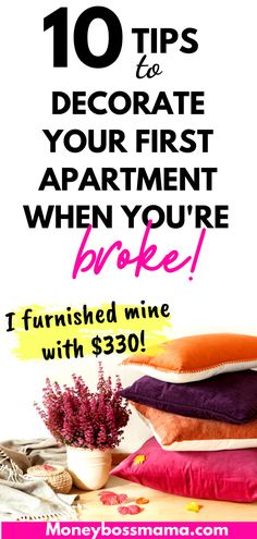 Finally Moving Out? Cheap Decorating Ideas for Your First Apartment Diy On A Budget, Decorating On A Budget, Tight Budget, Frugal Living Tips, Frugal Tips, First Apartment, Apartment Living, Save Money On Groceries, Managing Your Money