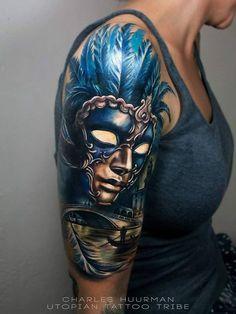Carnival Tattoo Designs carnival of venice sleeve best tattoo ideas ...