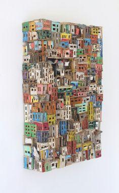 Rectangle van Eric Cremers | ' Rectangle ' is een andere benadering van het vaker toegepaste onderwerp 'slums ' (krotten) binnen de serie 'Habitats'.