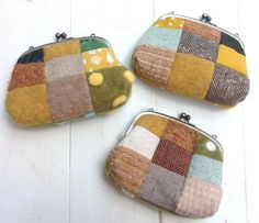2015-11-11 11.07.41 Patchwork Patterns, Sewing Patterns Free, Scrap Busters, Sashiko Embroidery, Frame Purse, Antique Quilts, Patch Quilt, Handmade Bags, Bag Making