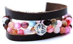 rustic heart bracelet