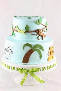 Tortenliebe .... mein süßes Hobby: Dschungel Torte - tolle Idee für deinen nächsten Kindergeburtstag