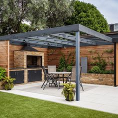 The pergola you choose will probably set the tone for your outdoor living space, so you will want to choose a pergola that matches your personal style as closely as possible. The style and design of your PerGola are based on personal Backyard Garden Landscape, Backyard Patio Designs, Outdoor Pergola, Backyard Pergola, Backyard Landscaping, Modern Pergola, Pergola Designs, Pergola Lighting, Outdoor Kitchen Patio