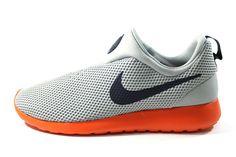 Nike Men's Roshe-Run Slip On Gray/Orange Shoes 644432 002 $ 89.99 #Nike #Mens #Shoes #Footwear www.sneakerkingdom.com