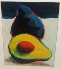 Robert Burridge Original Aquamedia Avocado Painting on Paper ...