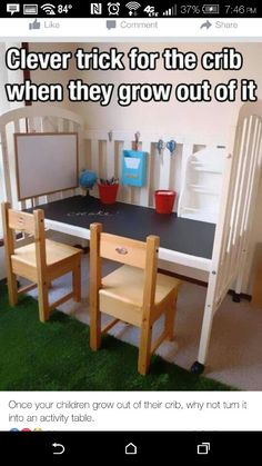 Lots of easy DIY furniture hacks that will make you want to hit the thrift store! I will never look at an old piece of furniture the same. These are so unique and clever. Baby Life Hacks, Useful Life Hacks, 25 Life Hacks, Mom Hacks, Hacks Diy, Kids And Parenting, Parenting Hacks, Old Cribs, Future Mom