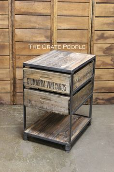 The Crate Nightstand  Custom Made Crate by TheCratePeople on Etsy