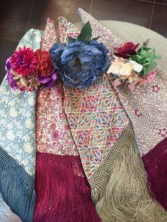 Mantoncillos flamenca con telas liberty y flores y ramilletes variados B&T