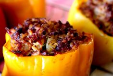 Smoked Stuffed Bell Peppers with Brisket and Pulled Pork- Smoking Meat Newsletter Grilled Stuffed Peppers, Baked Peppers, Smoked Brisket, Smoked Pork, Brisket Meat, Cookout Food, How To Cook Beef, Smoking Recipes, Pulled Pork Recipes