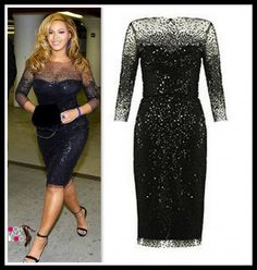 Beyonce' Knowles in a gorgeous Monique Lhullier dress