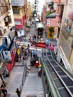 Central to Midlevels Escalator, Hong Kong