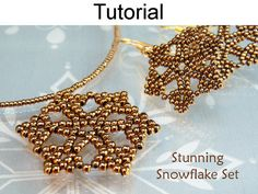 *P Beading Pattern Beaded Snowflake Necklace by SimpleBeadPatterns