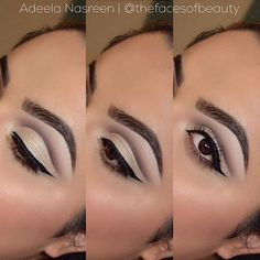 smooth and silky cut crease from thefacesofbeauty using Motives Pressed Eye Shadows for a beautiful neutral look