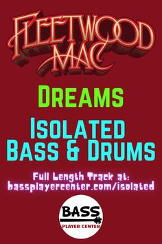 """Dreams - Fleetwood Mac - Isolated Bass & Drums Tracks - With Lyrics - Published as a resource to help hear and learn the bass and drums parts to """"Dreams"""" - Backing Track for Guitars, Keyboards - Play Along Jam Track - Vintage Bass and drums #FleetwoodMac #Dreams #IsolatedTracks #IsolatedBass #DrumTracks Bass Guitar Scales, Play Guitar Chords, Learn Bass Guitar, Bass Guitar Lessons, Guitar Lessons For Beginners, Drum Lessons, Guitar Songs, Teach Yourself Guitar, Vintage Bass Guitars"""