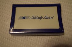 New Sealed Celebrity Cruises - 1 deck of Playing Cards (White)