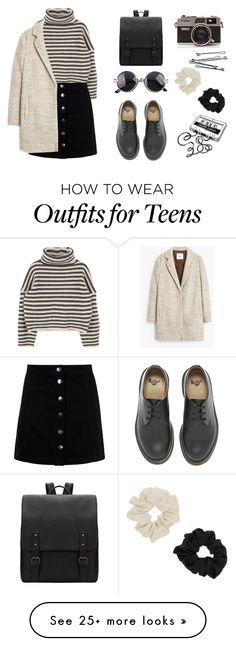 """""""Passion for fashion"""" by maiamusic9 on Polyvore featuring MANGO, Dr. Martens, CASSETTE, Miss Selfridge, BOBBY, women's clothing, women's fashion, women, female and woman"""