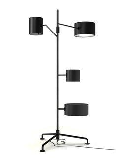 Statistocrat floor lamp black by Atelier Van Lieshout for Moooi