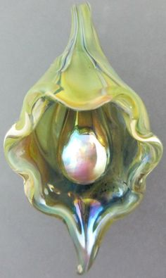 Leah Nietz  Handmade lampwork glass focal pendant by sandonfire