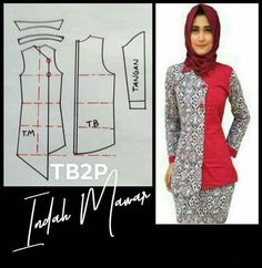 Kebaya, Refashion, Cowl, Sewing Projects, Tunic, Blouse, March, Outfits, Clothes