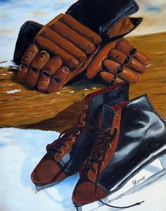 """""""Ready For A Skate"""" 24""""x30"""" Oil on Gallery-Wrapped Canvas"""