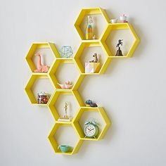 Honeycomb Wall Shelf (White) | The Land of Nod Blinds, Shelves, Design, Home Decor, Shutters, Shelving, Homemade Home Decor, Window Blinds, Interior Design