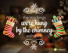 The stockings were hung by the chimney with care.in hopes that It Works! presents soon would be there! It Works Body Wraps, It Works Distributor, Blog Sites, Live For Yourself, Presents, Stockings, Christmas Ornaments, Holiday Decor, Instagram Posts