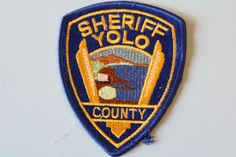 Yolo County Sheriff Police California Police Dept. Early issue patch USA