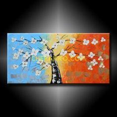 Trittico dipinto a mano olio su tela | QUADRI MODERNI CON FIORI ...