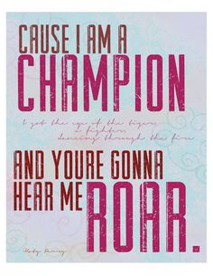 Katy Perry Roar Lyrics 8x10 Print by theredlinedesigns on Etsy