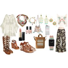 Feeling Hippie!! by kanikakamra on Polyvore featuring Calypso St. Barth, H&M, Valentino, Lucky Brand, Topshop, Star Mela, Casetify, claire's, Lancôme and Bobbi Brown Cosmetics