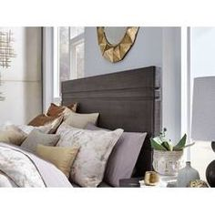 August Grove Rivera Poster Panel Headboard & Reviews | Wayfair Wingback Headboard, Queen Headboard, Panel Headboard, Pine Bedroom Furniture, Blue Couches, Adjustable Beds, Metal Beds, Reclaimed Barn Wood, Tufting Buttons