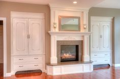 fireplace with bookcases | Statz Construction LLC - Remodeling Services Image Gallery