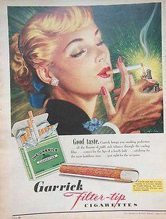 GARRICK FILTER TIP CIGARETTES ad 1955 original vintage AUSTRALIAN advertising