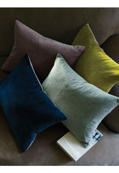 Velvet and Linen Cushion Cover - Bed & Bath - Home