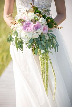 A Chic Beach Wedding at Ocean Resort at Bath and Tennis in Westhampton Beach, New York Hydrangea Bouquet Wedding, Diy Wedding Bouquet, Diy Bouquet, Wedding Flowers, Wedding Dresses, Bridal Bouquets, Budget Wedding, Our Wedding, Wedding Stuff