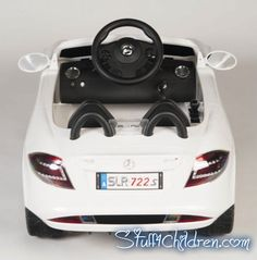 Stuff4Children.com - Mercedes Electric Cars for Kids to Ride Benz SLR 722 Licensed 12V Motorized with Bluetooth 2.4GHz Full Function Remote Control Adjustable Seatbelt for Safety MP3 Hookup Music Best in Battery Operated Toy Car Models for Kids to Drive Toddlers 2-4