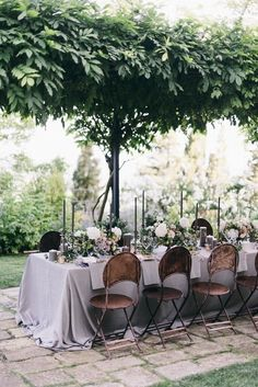 outdoor tables