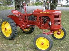 Old Massey Harris tractors Antique Tractors, Vintage Tractors, Vintage Farm, Steam Tractor, New Tractor, Old Ford Trucks, Lifted Chevy Trucks, Pickup Trucks, Small Tractors