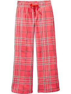 Girls Patterned Performance Fleece Sleep Pants | Old Navy (Ella really needs PJs. Size 16)