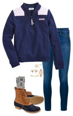 """True Prep"" by sc-prep-girl ❤ liked on Polyvore featuring Frame Denim, L.L.Bean, Kate Spade, Kendra Scott, women's clothing, women, female, woman, misses and juniors"