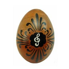 Mahogany Wood Egg Shaker - Music Design - Jamtown World Instruments This muscially-inspired wooden egg shaker measures 2.5 inches by 1.5 inches.