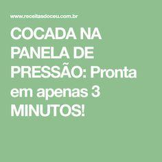 COCADA NA PANELA DE PRESSÃO: Pronta em apenas 3 MINUTOS!